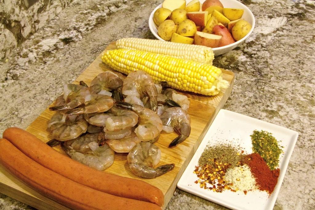 Cajun Shrimp and sausage skewers