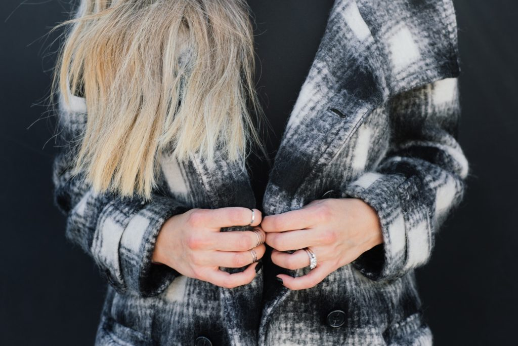 Banana Republic Plaid Coat