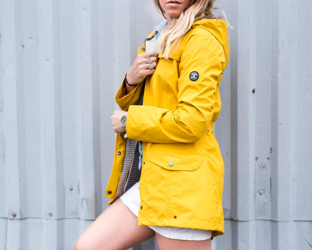 Barbour Spring Rain Jacket Yellow