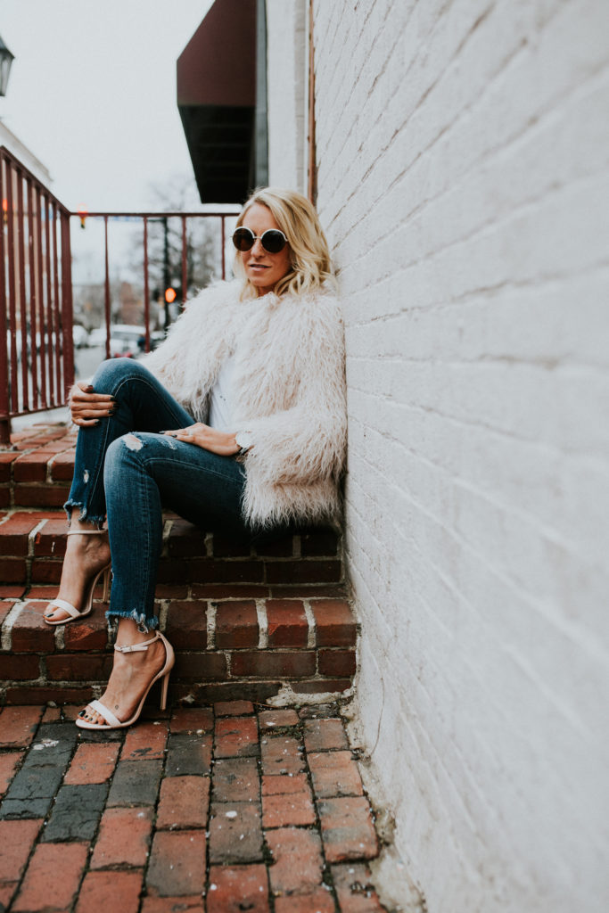 Blush Fur Jacket Zara