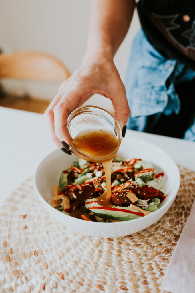 Honey Siracha Asian Salad