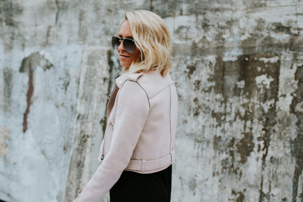 Zara Blush Suede Jacket