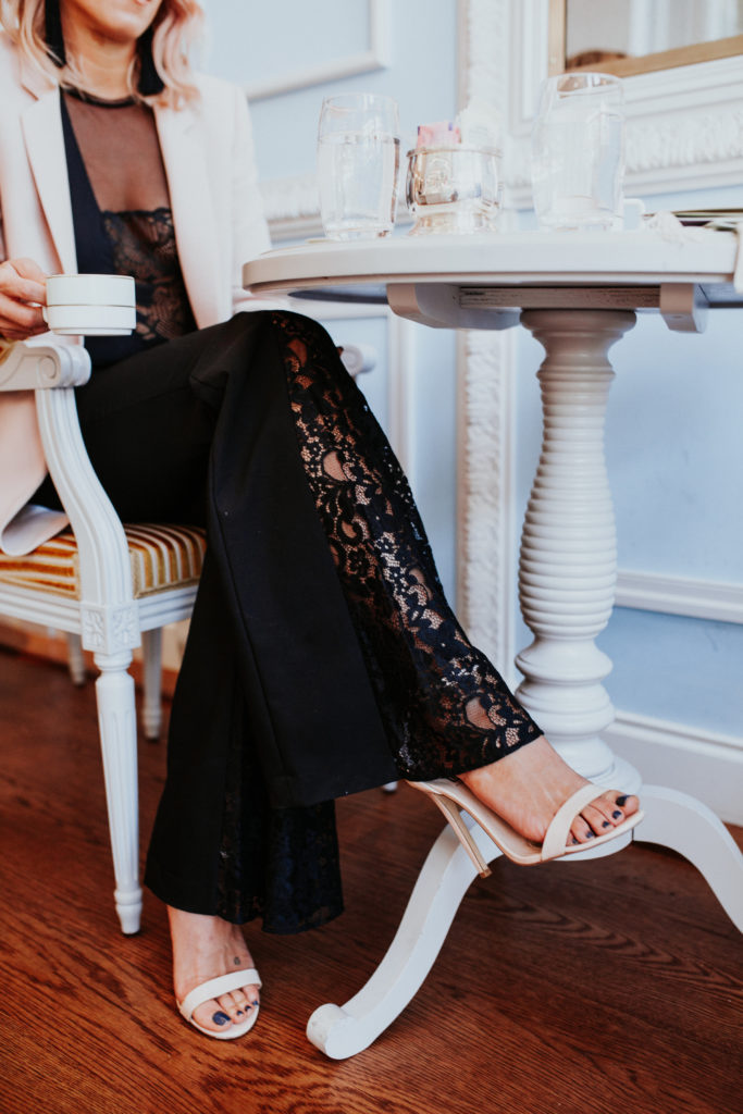 lace pants Zara